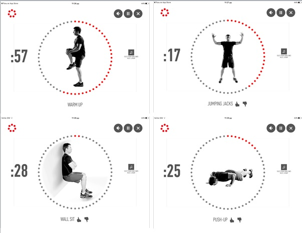 the johnson  u0026 johnson official 7 minute workout app