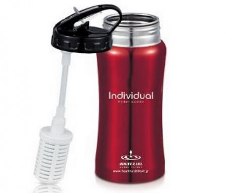 Water Bottle with embedded Water Filter