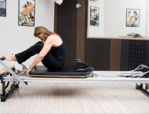 Reformer training: stomach massage – round back