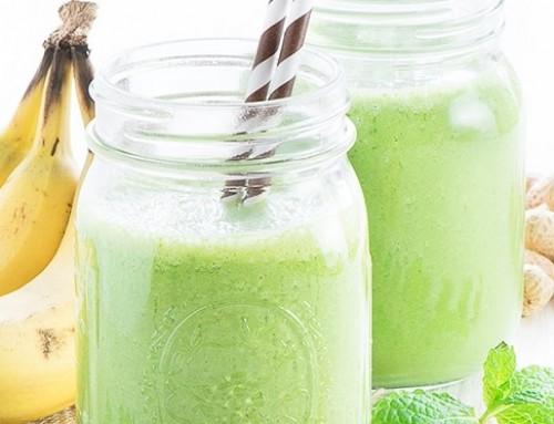 Πράσινο smoothie με φυστικοβούτυρο