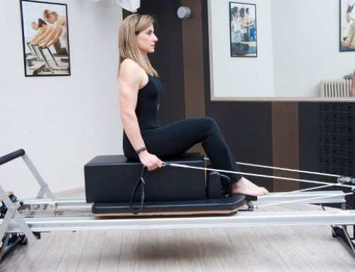 Reformer training: chest expansion