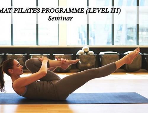 Εκπαιδευτικό Σεμινάριο Mat Pilates Programme Level lll