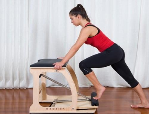Wunda Chair: calf raises, achilles stretch