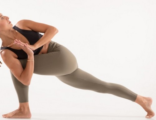 Yoga twisting & detox: revolved side angle pose