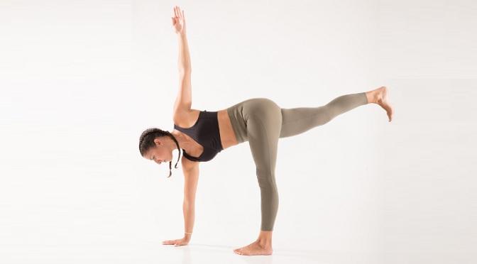 yoga twist half moon