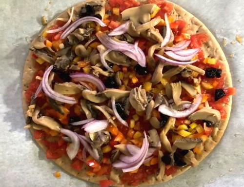 Συνταγή για …μια υγιεινή πίτσα!!!