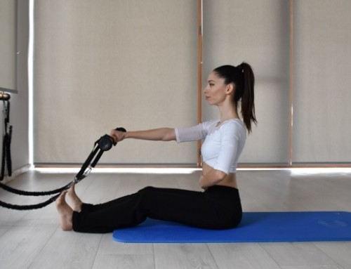 Keep your mind on Pilates. Keep your body toned and try…..roll down one arm with pilatesstick