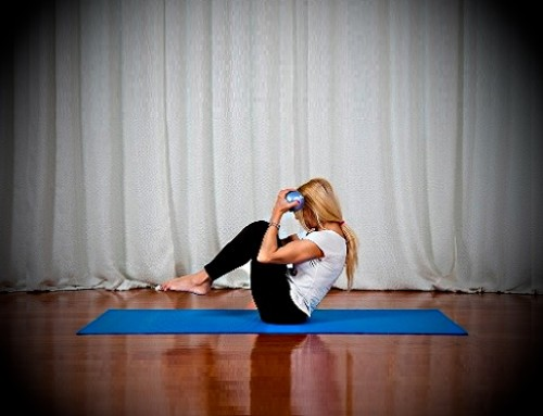 Keep your mind on Pilates. Keep your body toned and try…..rolling like a ball with toning balls