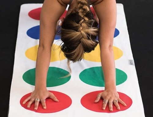 Twister-Inspired Yoga Mat